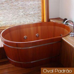 Ofurô Casal Oval Padrão 130 cm x 90 cm
