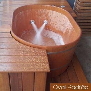 Ofurô Casal Oval Padrão 140 cm x 100 cm