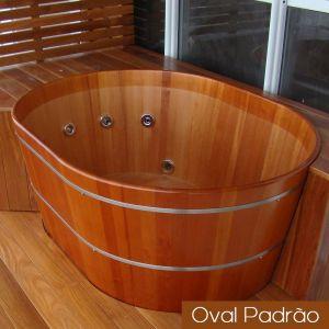 Ofurô Casal Oval Padrão 150 cm x 110 cm