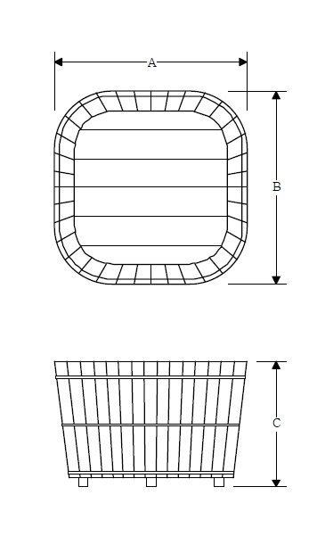 Ofurô Square Cônico 120 cm
